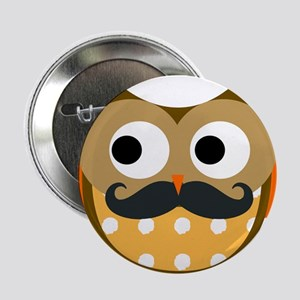 "Mustachioed Owl 2.25"" Button"