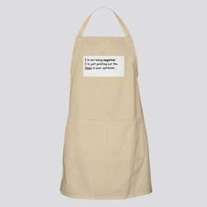 I'm not negative! Apron