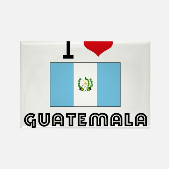 I HEART GUATEMALA FLAG Rectangle Magnet