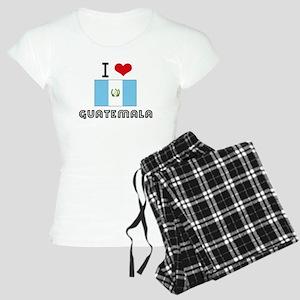 I HEART GUATEMALA FLAG Pajamas