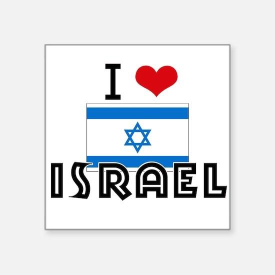 I HEART ISRAEL FLAG Sticker