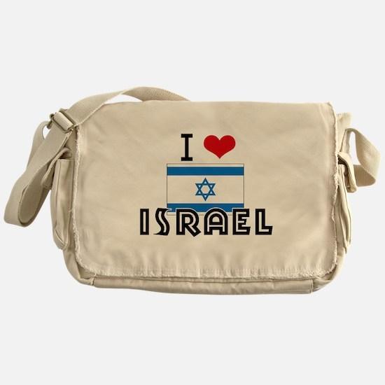 I HEART ISRAEL FLAG Messenger Bag