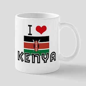 I HEART KENYA FLAG Mug