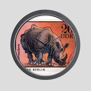 1975 Germany Zoo Rhinoceros Postage Stamp Wall Clo