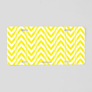 Chevron / Sawtooth Pattern Aluminum License Plate