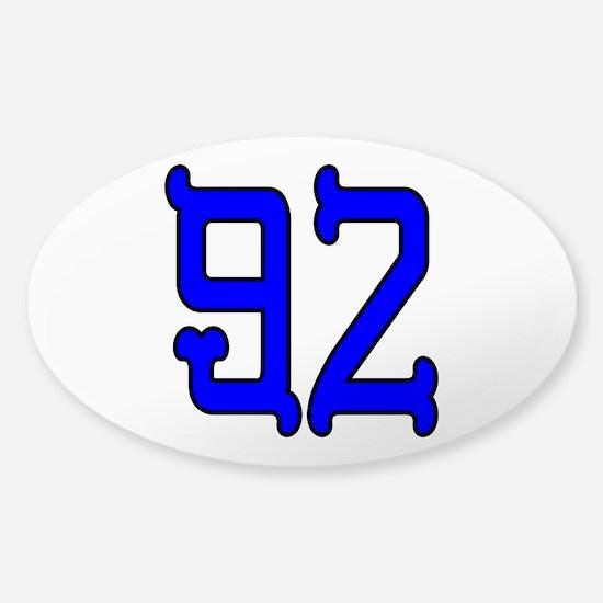 Blue Bones 92 Sticker (Oval)