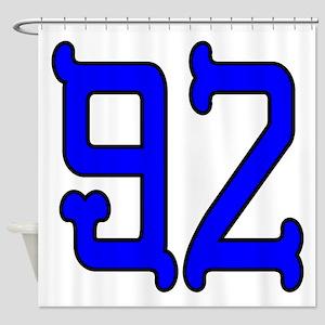 Blue Bones 92 Shower Curtain