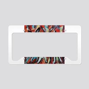 Boston Terrier love dance party License Plate Hold