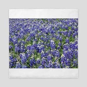 Field of Texas Bluebonnets Queen Duvet
