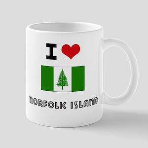 I HEART NORFOLK ISLAND FLAG Mug