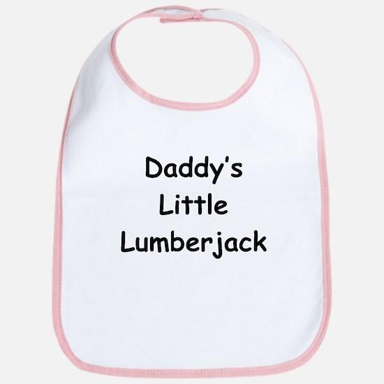 Daddy's Little Lumberjack Bib