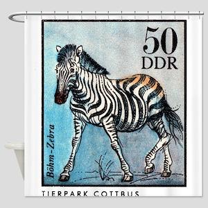 Vintage 1975 Germany Zoo Zebra Postage Stamp Showe