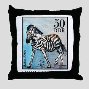 Vintage 1975 Germany Zoo Zebra Postage Stamp Throw