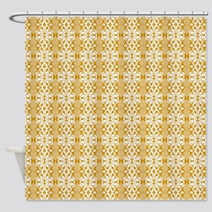 Yellow Damask Shower Curtains Cafepress