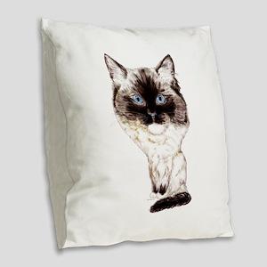 Ragdoll Caricature Burlap Throw Pillow