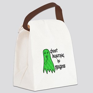 Ghost Hunting In Progress Canvas Lunch Bag