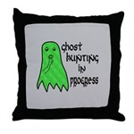 Ghost Hunting In Progress Throw Pillow
