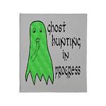 Ghost Hunting In Progress Throw Blanket
