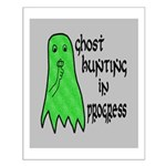Ghost Hunting In Progress Small Poster