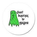 Ghost Hunting In Progress Round Car Magnet