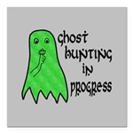 Ghost Hunting In Progress Square Car Magnet 3
