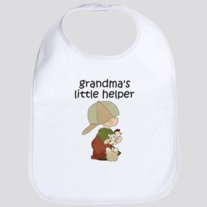 Grandmas Chicken Helper Boy Bib