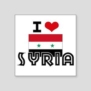 I HEART SYRIA FLAG Sticker