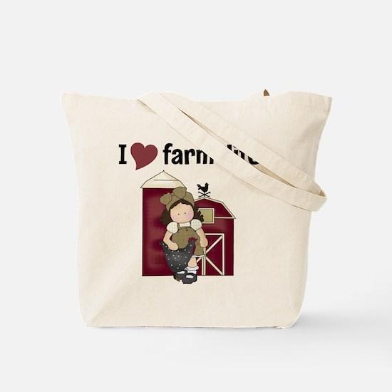 I Love Farm Life Tote Bag