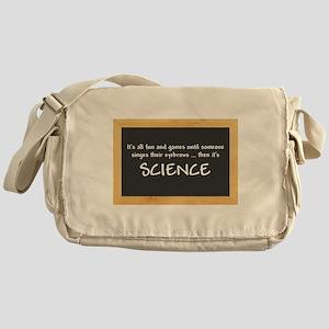 Singed Eyebrows makes it Science Messenger Bag
