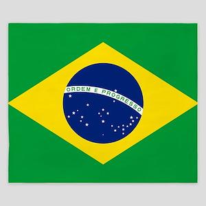 Flag of Brazil King Duvet