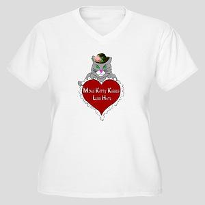 More Kitty Kisses Less Hate Plus Size T-Shirt