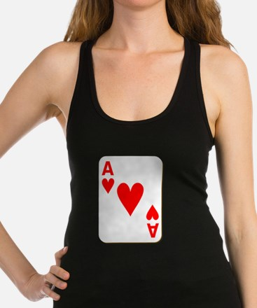 Ace of Hearts Playing Card Racerback Tank Top