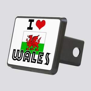 I HEART WALES FLAG Hitch Cover