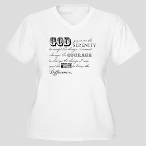 Serenity Prayer Plus Size T-Shirt