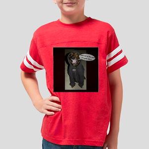 Dog in Hoody Dog T-Shirt Youth Football Shirt
