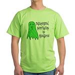 Paranormal Investigation in Progress Green T-Shirt