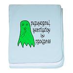 Paranormal Investigation in Progress baby blanket