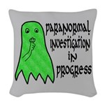 Paranormal Investigation in Progress Woven Throw P