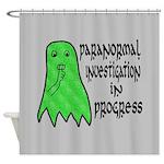 Paranormal Investigation in Progress Shower Curtai