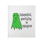 Paranormal Investigation in Progress Throw Blanket