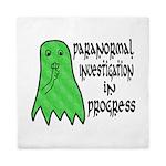 Paranormal Investigation in Progress Queen Duvet