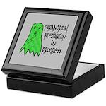 Paranormal Investigation in Progress Keepsake Box