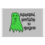 Paranormal Investigation in Progress Large Poster