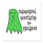 Paranormal Investigation in Progress Square Car Ma