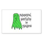 Paranormal Investigation in Progress Sticker (Rect