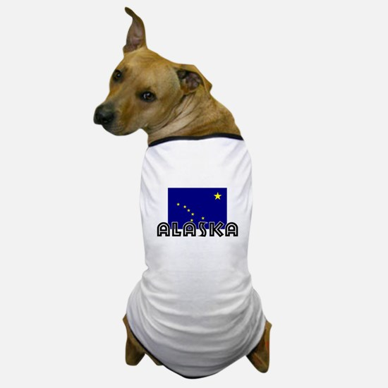 I HEART ALASKA FLAG Dog T-Shirt