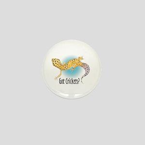 Gecko Got Crickets Mini Button