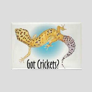 Gecko Got Crickets Rectangle Magnet