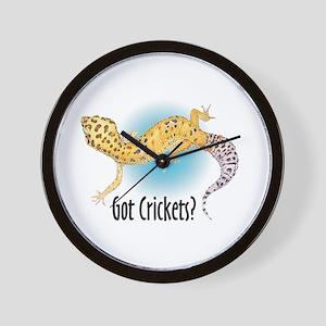 Gecko Got Crickets Wall Clock