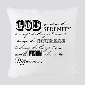 Serenity Prayer Woven Throw Pillow